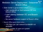 mediation server deployment datacenter vs branch office