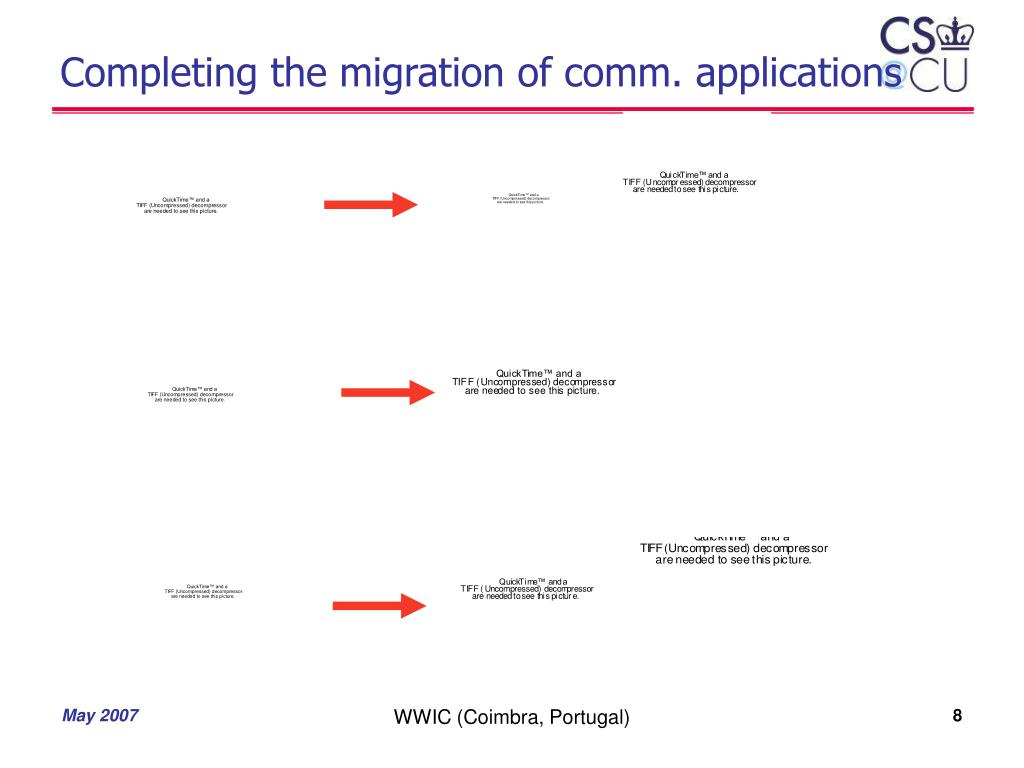 Completing the migration of comm. applications