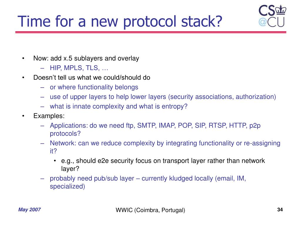 Time for a new protocol stack?
