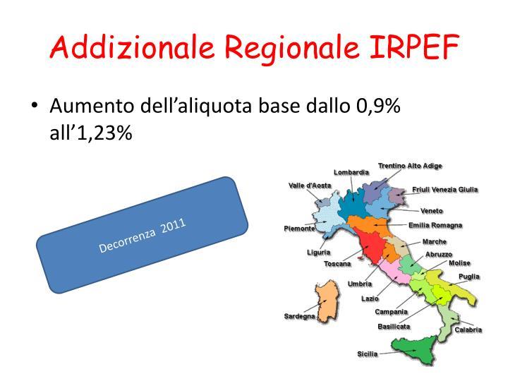 Addizionale Regionale IRPEF