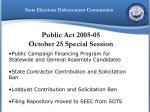 public act 2005 05 october 25 special session