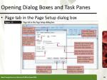 opening dialog boxes and task panes18