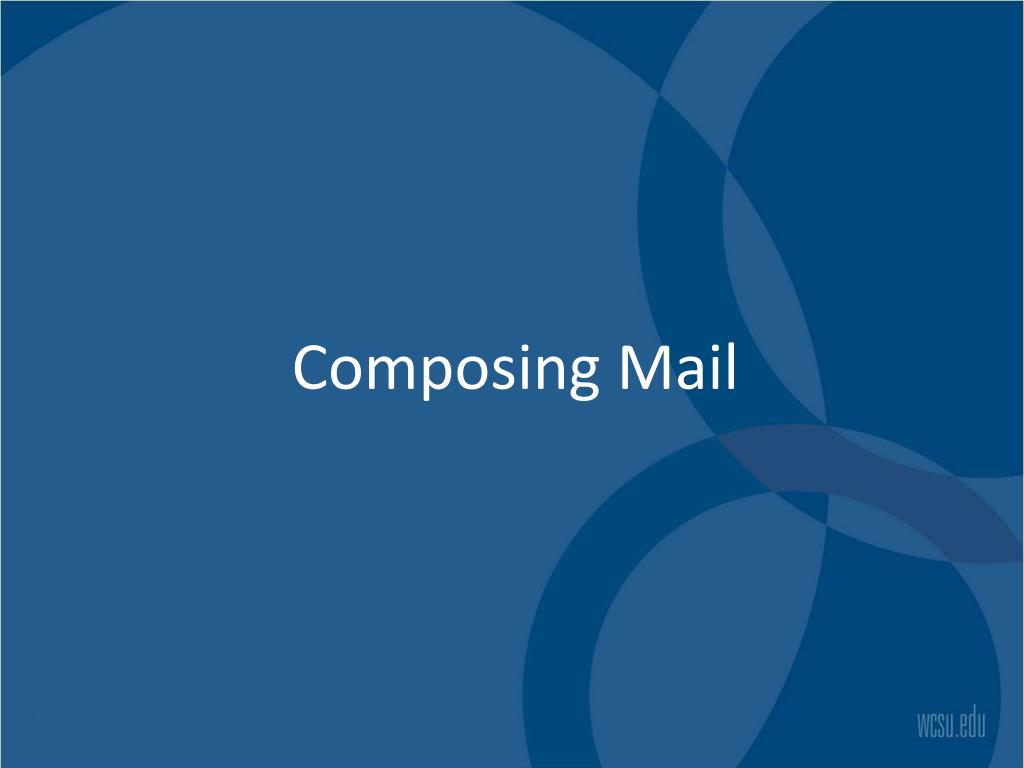 Composing Mail
