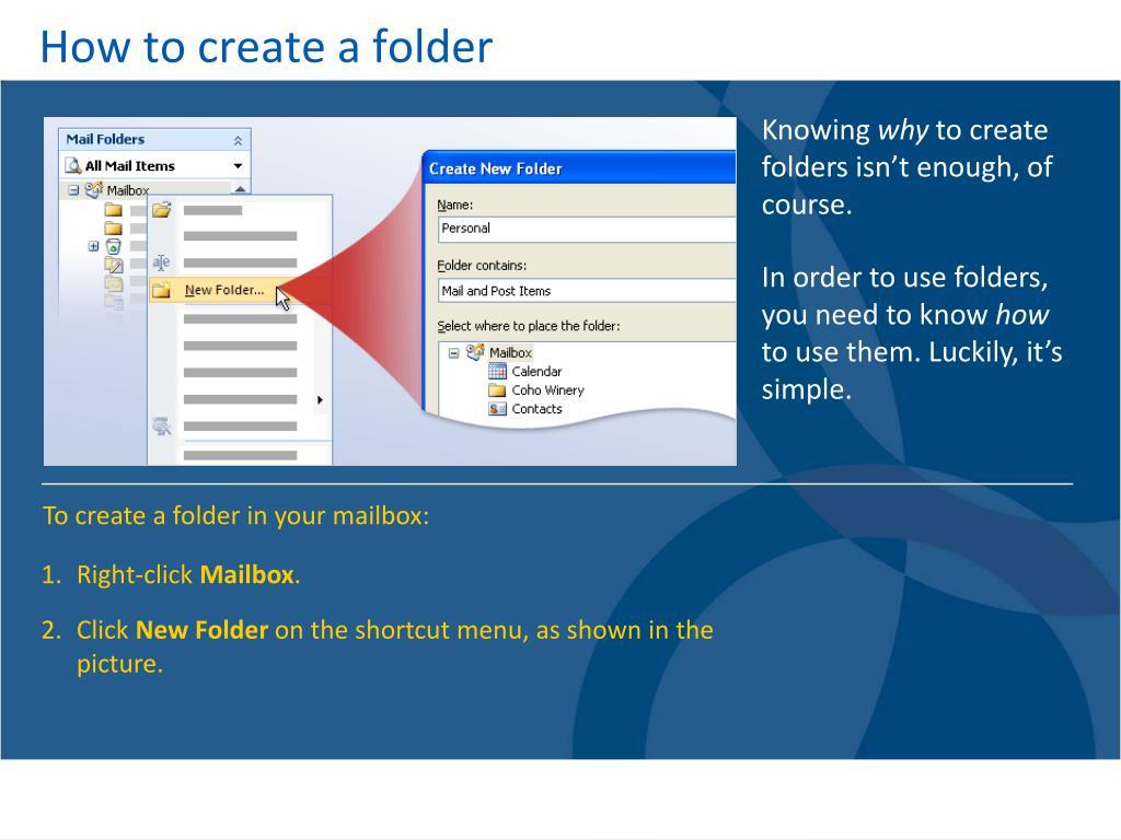 How to create a folder