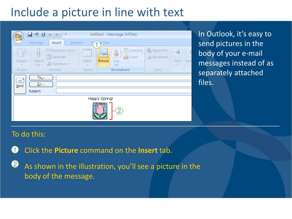 Include a picture in line with text