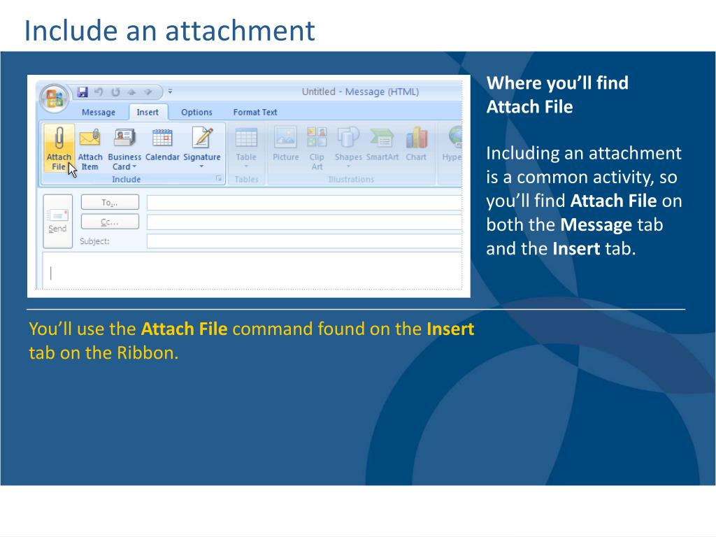 Include an attachment