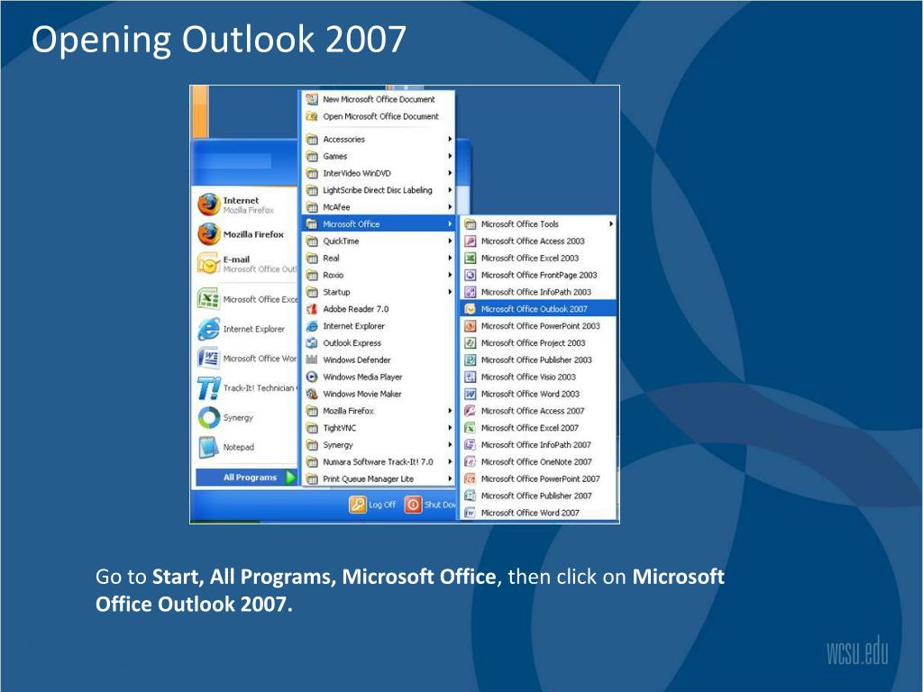 Opening Outlook 2007