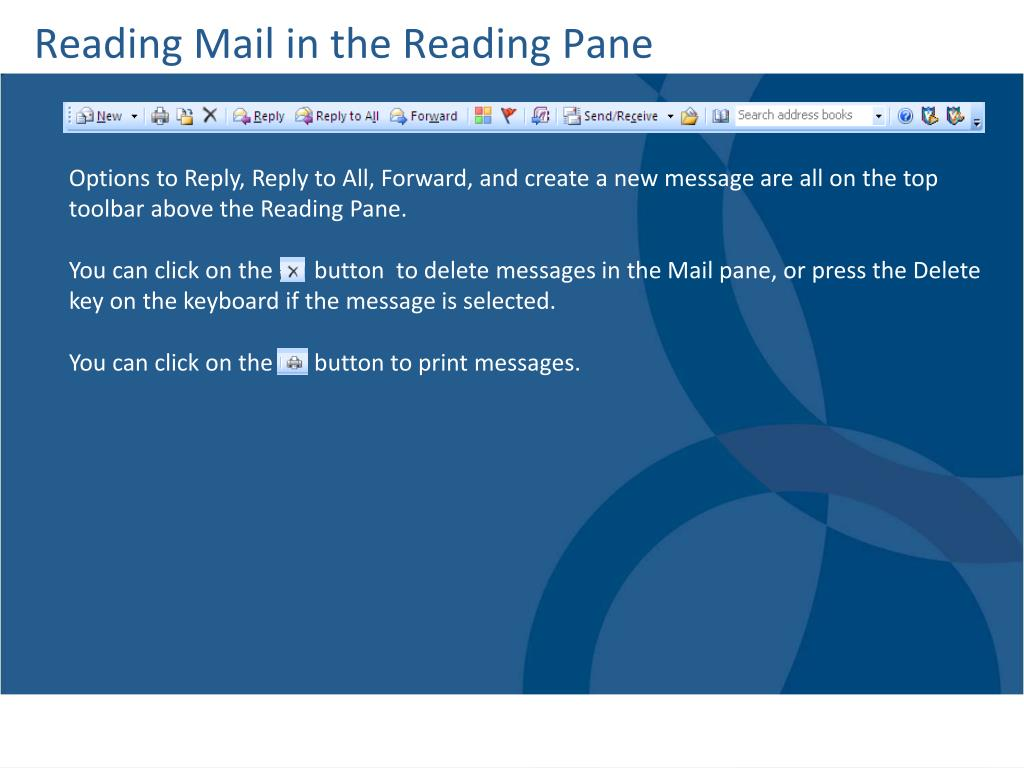 Reading Mail in the Reading Pane