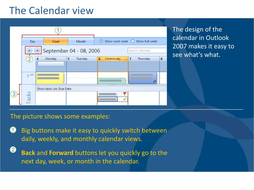 The Calendar view