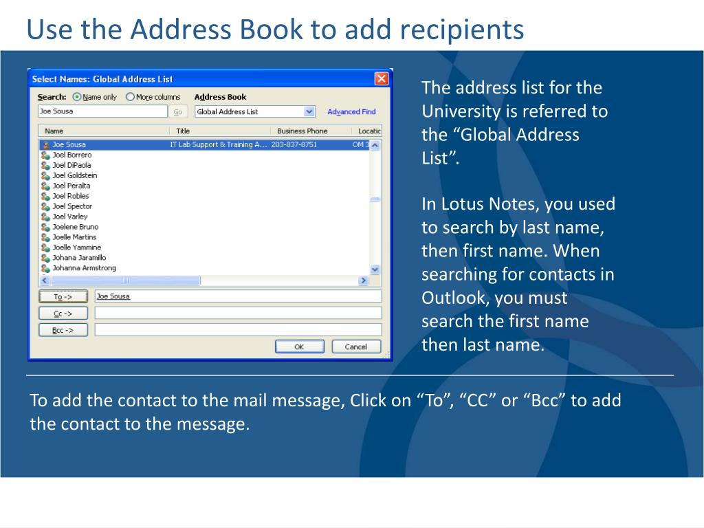 Use the Address Book to add recipients