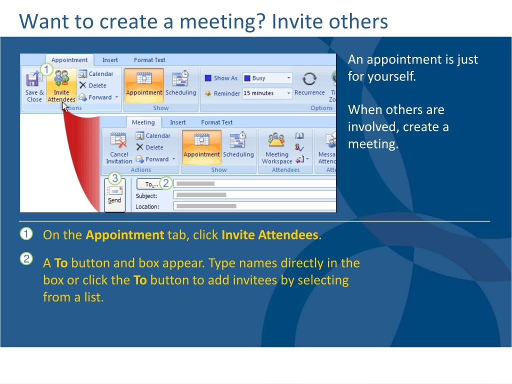 Want to create a meeting? Invite others