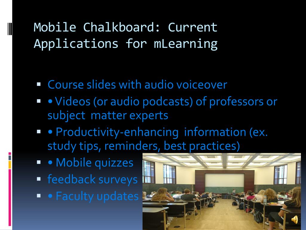 Mobile Chalkboard: Current Applications for