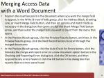 merging access data with a word document8