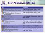 sharepoint server 2007 skus