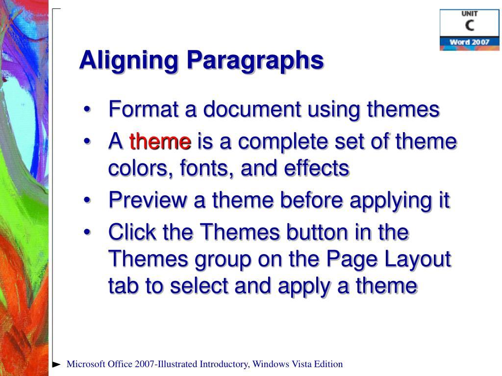 Aligning Paragraphs