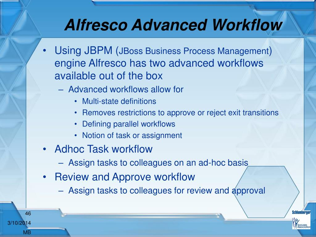 Alfresco Advanced Workflow