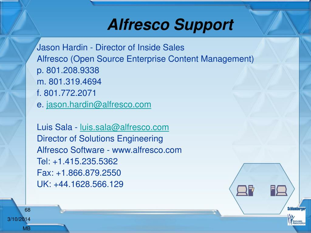 Alfresco Support