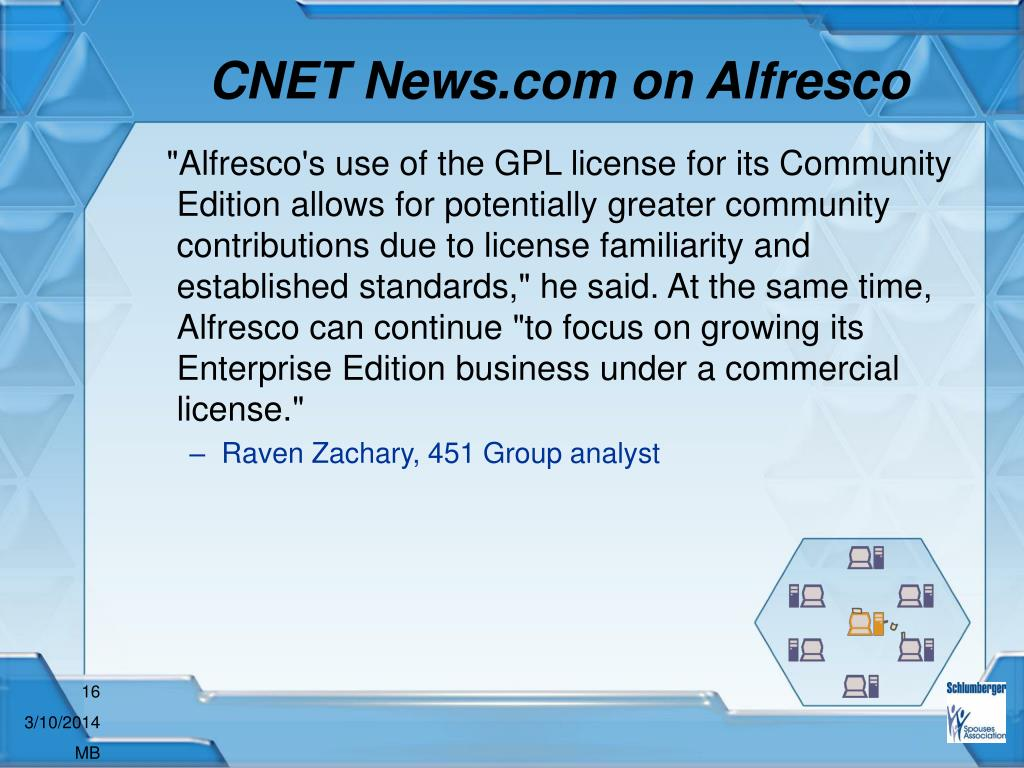 CNET News.com on Alfresco
