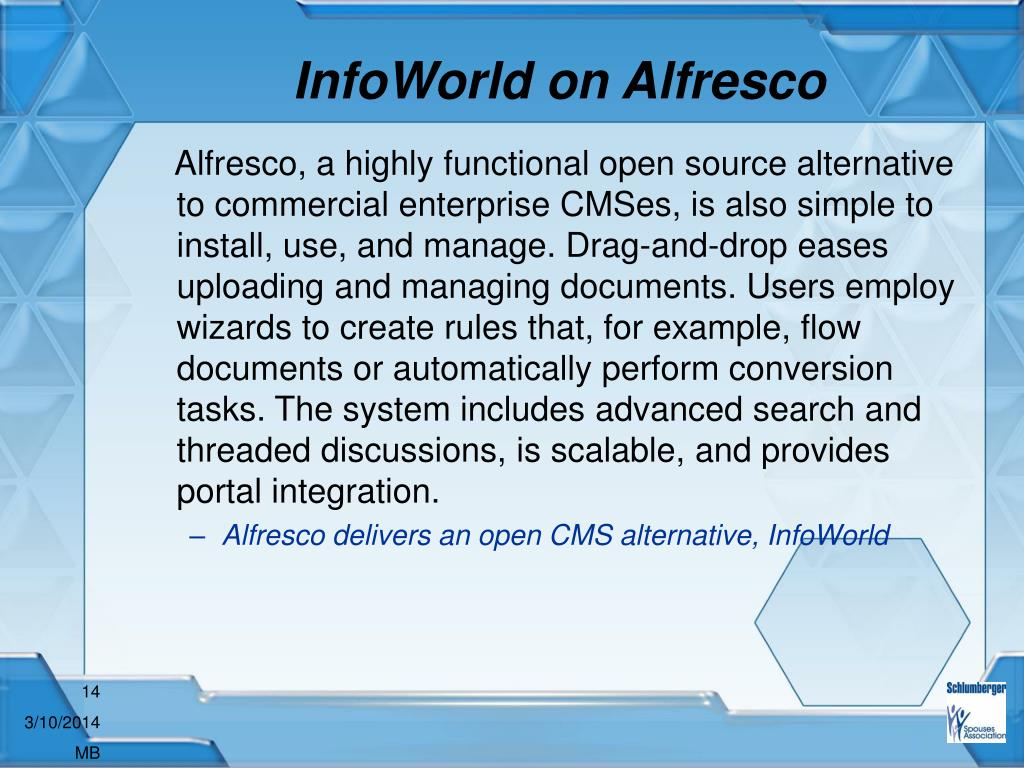 InfoWorld on Alfresco