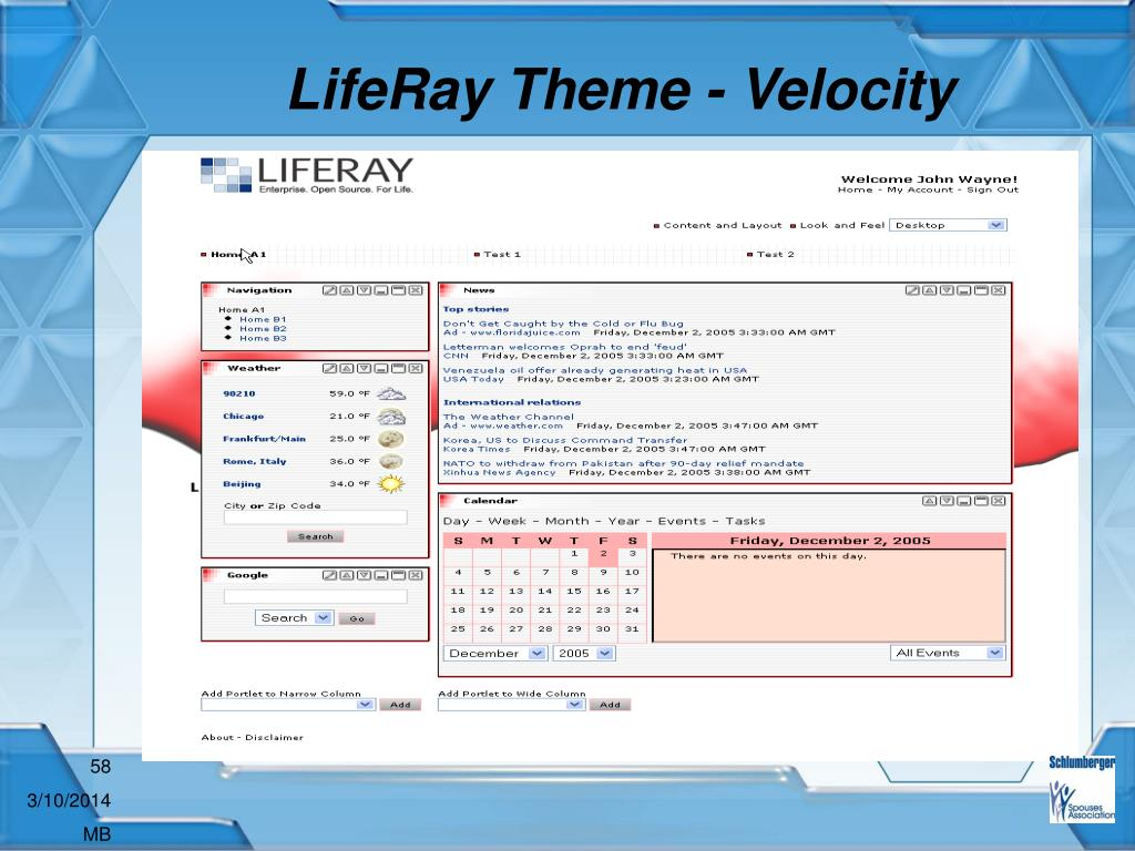 LifeRay Theme - Velocity