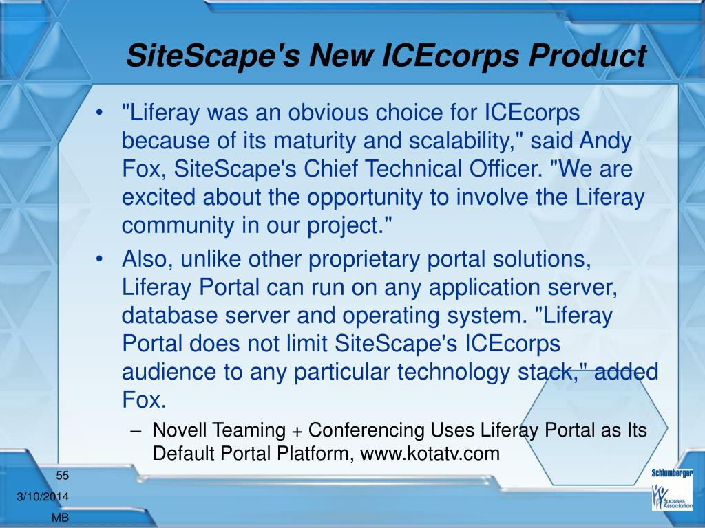 SiteScape's New ICEcorps Product