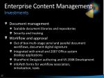 enterprise content management investments