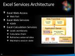 excel services architecture