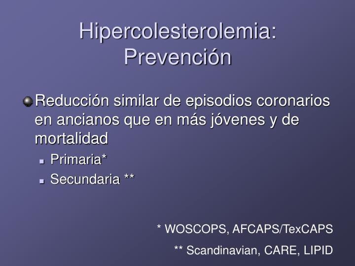 Hipercolesterolemia: Prevención