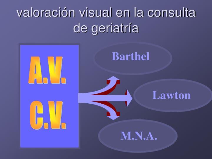 valoración visual en la consulta de geriatría