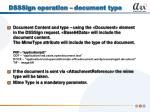 dsssign operation document type