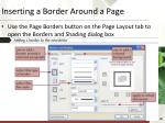 inserting a border around a page30