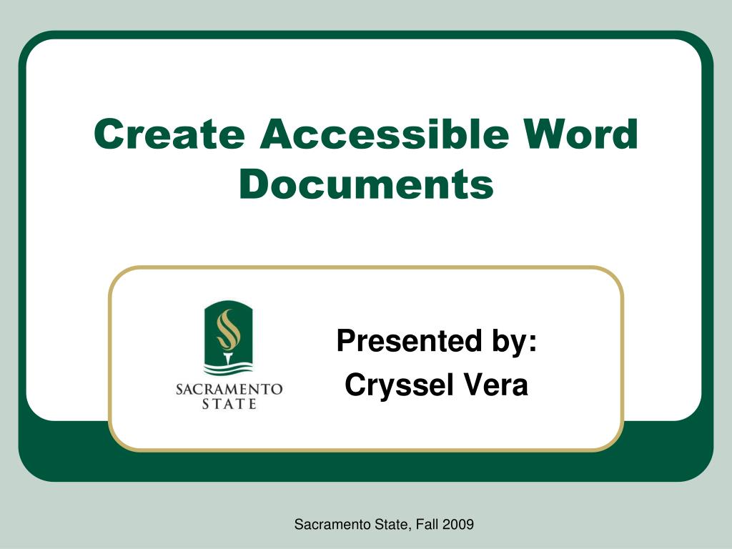 create accessible word documents l.