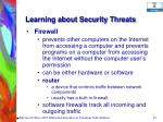 learning about security threats54
