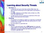 learning about security threats55