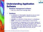 understanding application software65