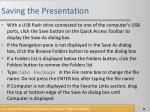 saving the presentation