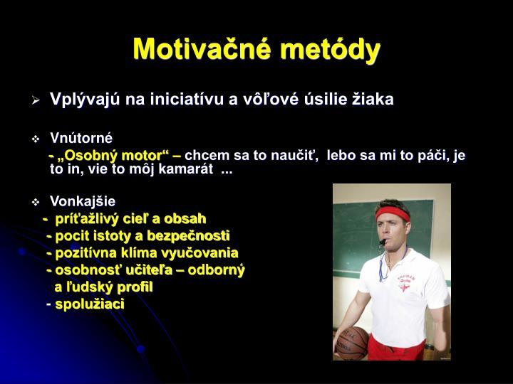 Motivačné metódy