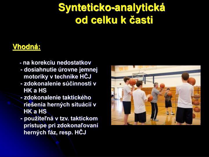Synteticko-analytická