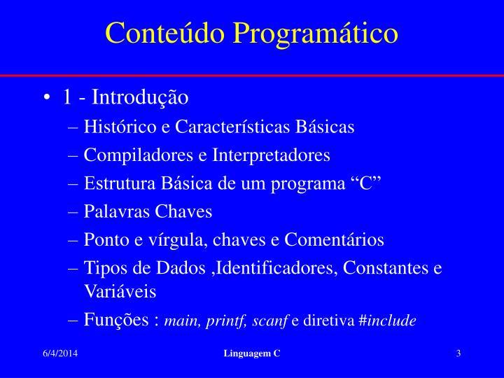 Conte do program tico