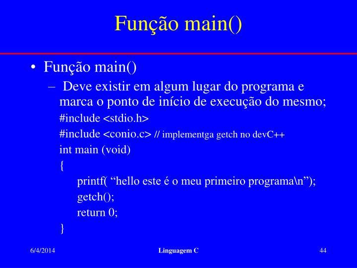 Função main()