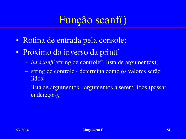 Função scanf()