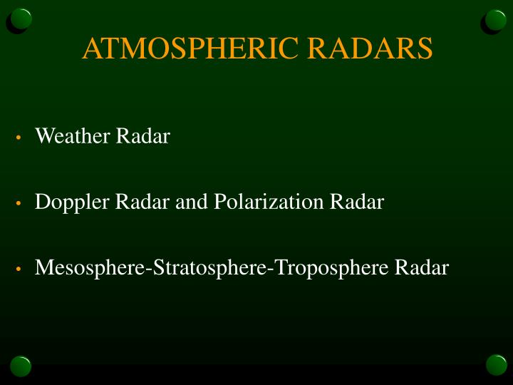 ATMOSPHERIC RADARS