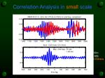 correlation analysis in small scale