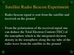 satellite radio beacon experiment