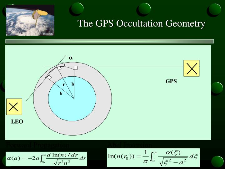 The GPS Occultation Geometry