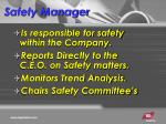safety manager