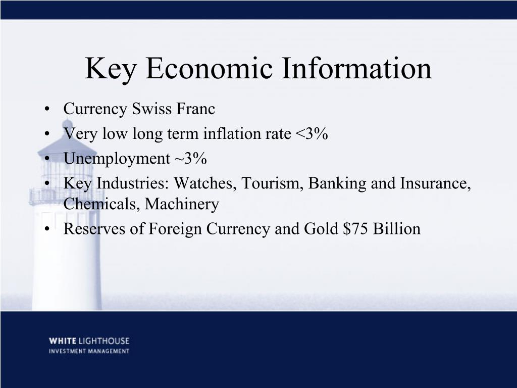 Key Economic Information