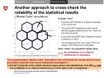 another approach to cross check the reliability of the statistical results monte carlo simulation