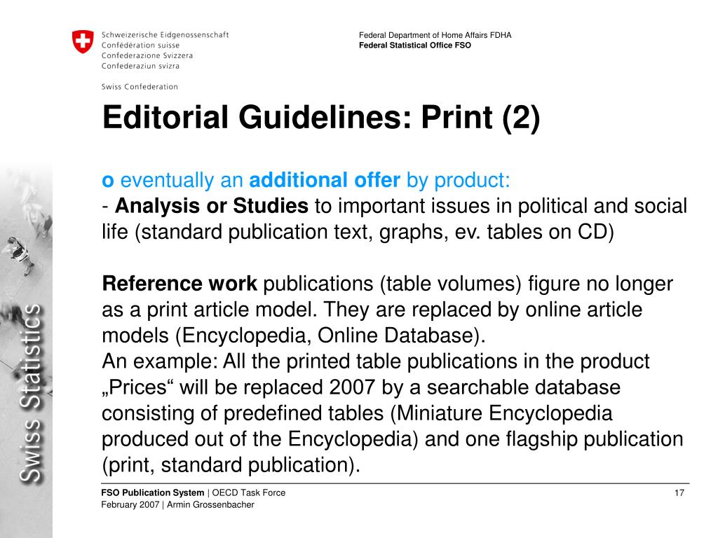 Editorial Guidelines: Print (2)