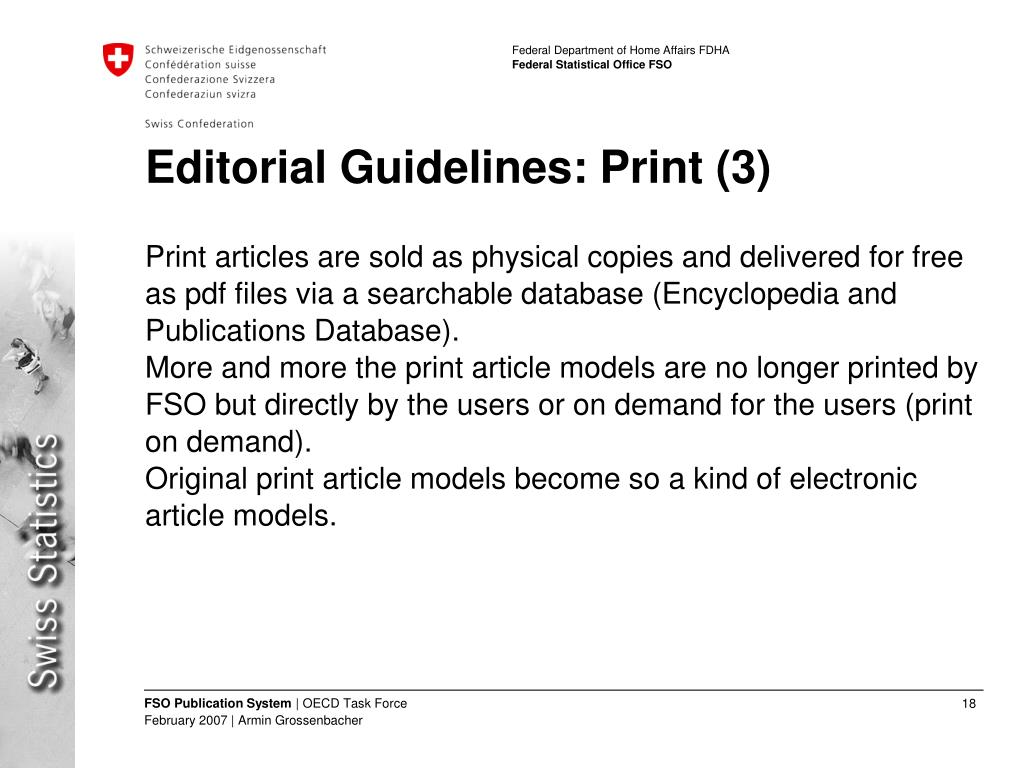 Editorial Guidelines: Print (3)